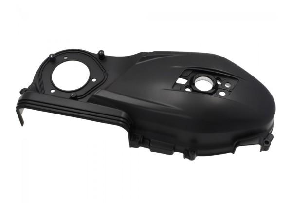 Couvercle de variateur, noir mat, Vespa Sprint 125t, Primavera 125 (BJ 2017 -)