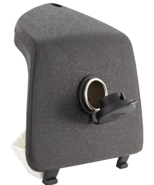 Capot de boite à gant gauche avec fiche pour allume-cigare 12V pour Vespa GTS/GTS Super/GTV/GT, noir