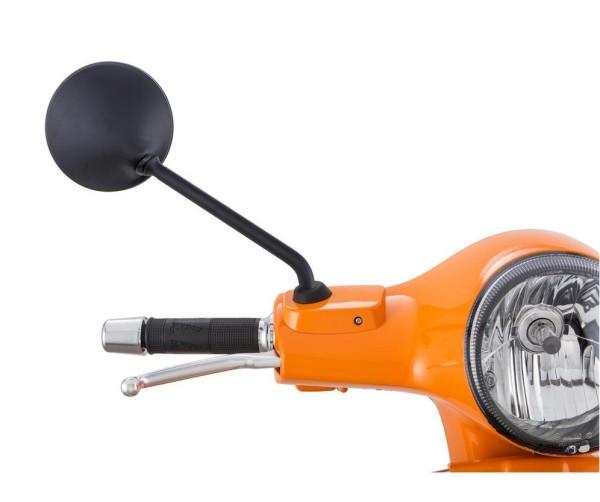 Rétroviseur pour Vespa LX/LXV/S/GTS/GTS Super/GTV/GT 60/GT/GT L 50-300ccm, noir mat, droite