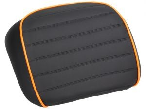 pad arrière, noir / orange