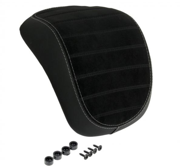 Original dosseret top-case Vespa Primavera / Sprint noir avec coutures blanches