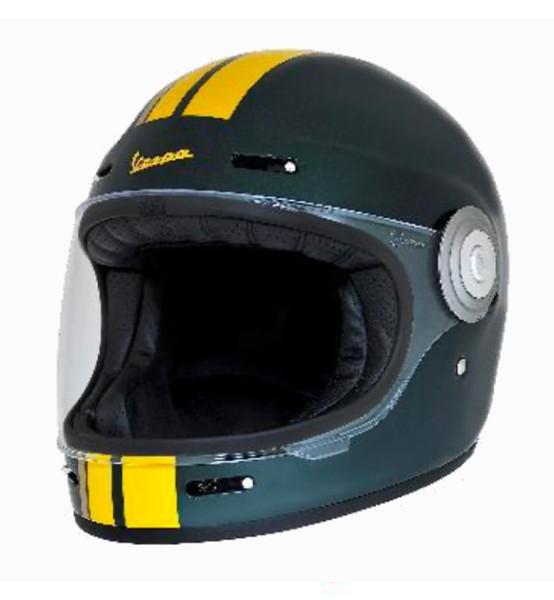 Casque intégral Vespa Racing Sixties 60s vert / jaune