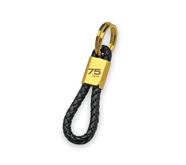 Porte-clés Vespa 75 ans - noir