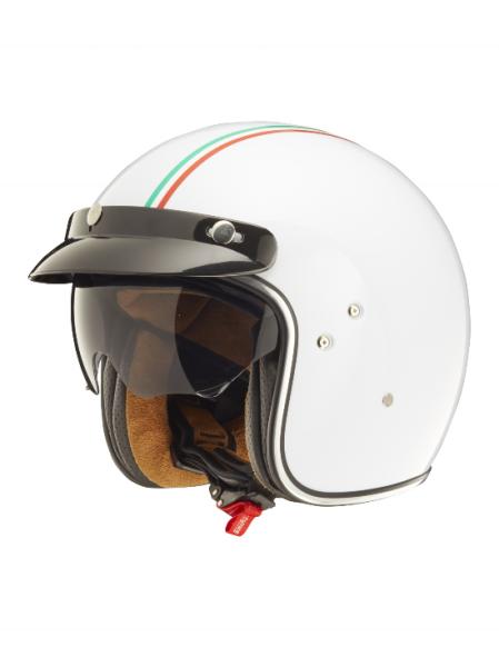 Shiro Jethelm, SH235 GT, Italy Flag, blanc