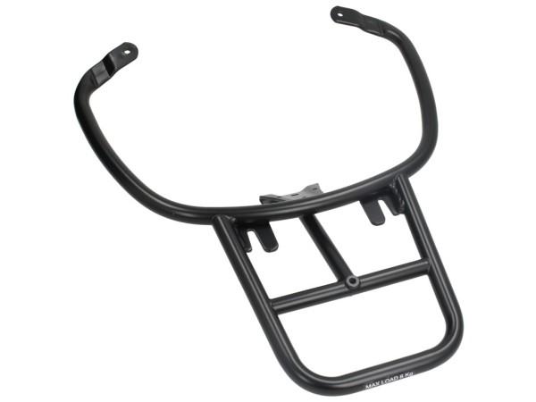 Porte bagages arrière noire mat Vespa Primavera / Sprint / Elettrica