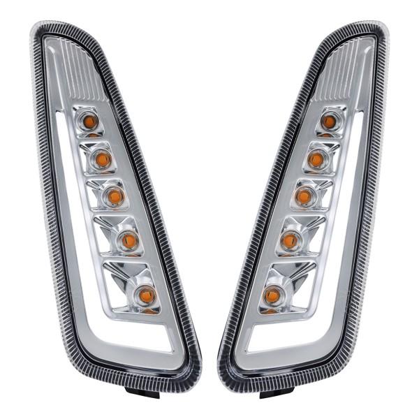 Kit clignotant avant gauche / droite LED clair pour Vespa Primavera / Sprint 125-150ccm SIP Style