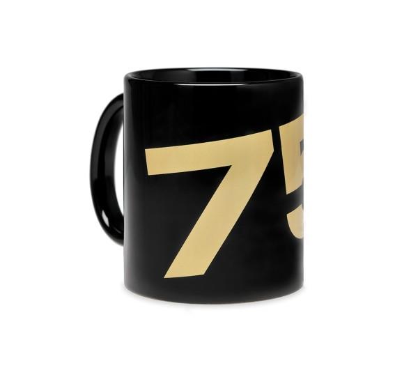 Mug Vespa 75 ans - noir