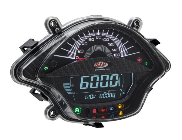 Compte-tours/Compteur de vitesse pour Vespa GTS/GTS Super 300ccm FL ('14-), carbone