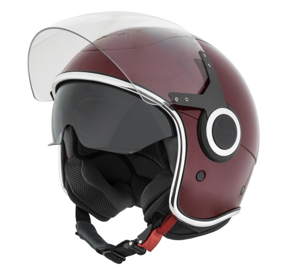 Casque Demi Jet Vespa VJ rouge Must 880/A