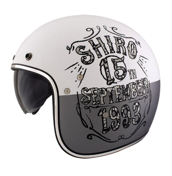 Shiro Jethelm, SH235, Born, gris/blanc/mat