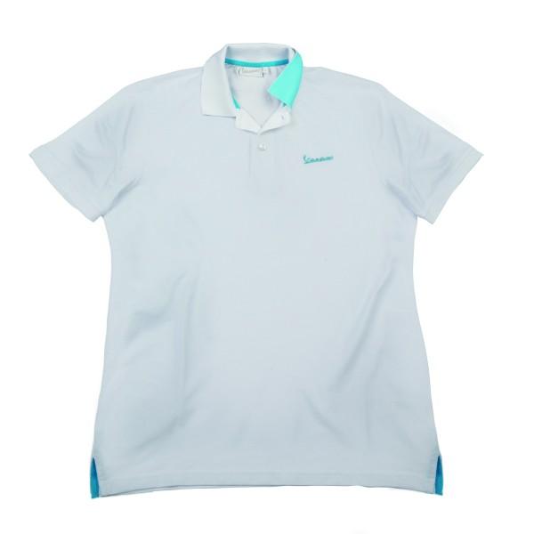 "Vespa Polo Shirt ""Vespa Logo"" homme blanc"