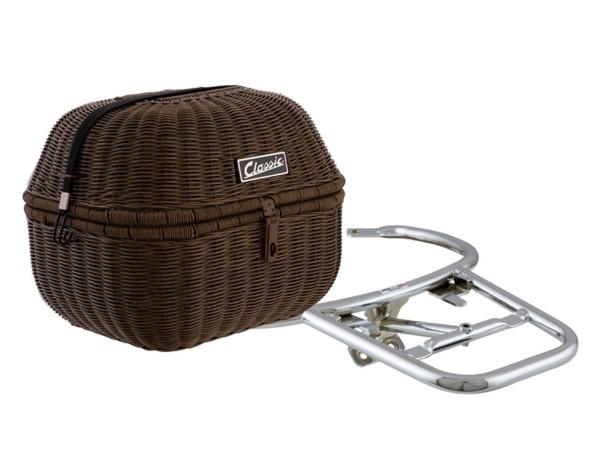 """Kit panier à bagage """"Classic"""" pour Vespa GTS/GTV/GT60 125-300ccm, brun foncé"""