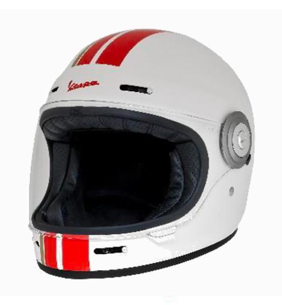 Casque intégral Vespa Racing Sixties 60s rouge / blanc