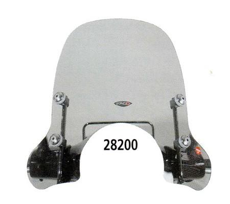 Pare-brise demi-haut pour Vespa GTS/GTS Super/GT/GT L 125-300ccm, fumé