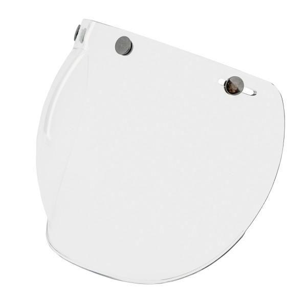 Visière bulle (transparente) avec boutons-pression pour casques Vespa Jet