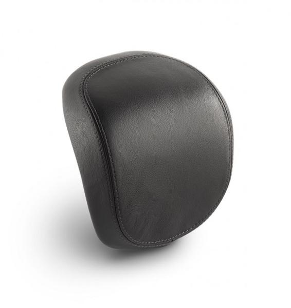 Original Vespa cuir véritable dosseret top-case pour Vespa Primavera / Sprint / Elettrica - noir