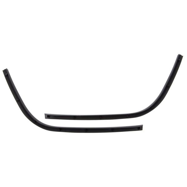 Marchepied tube simple fente noir brillant pour Vespa Primavera / Sprint 50-150ccm
