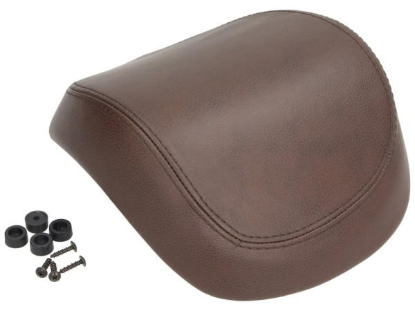 Original Vespa cuir véritable dosseret top-case pour Vespa Primavera / Sprint / Elettrica - brun