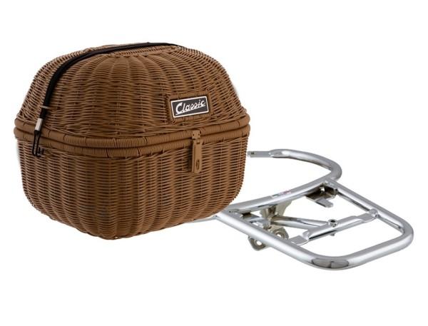 """Kit panier à bagage """"Classic"""" pour Vespa GTS/GTV/GT60 125-300ccm, brun"""