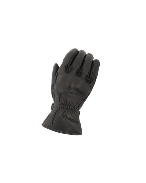 Vespa 3/4 gants d'hiver en cuir véritable noirs