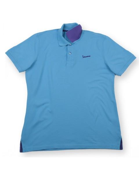 "Vespa Polo Shirt ""Vespa Logo"" homme bleu clair"