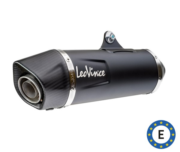 Système d'échappement LeoVince Nero, acier inoxydable, noir, système complet, pour Vespa 300 GTS Euro 5