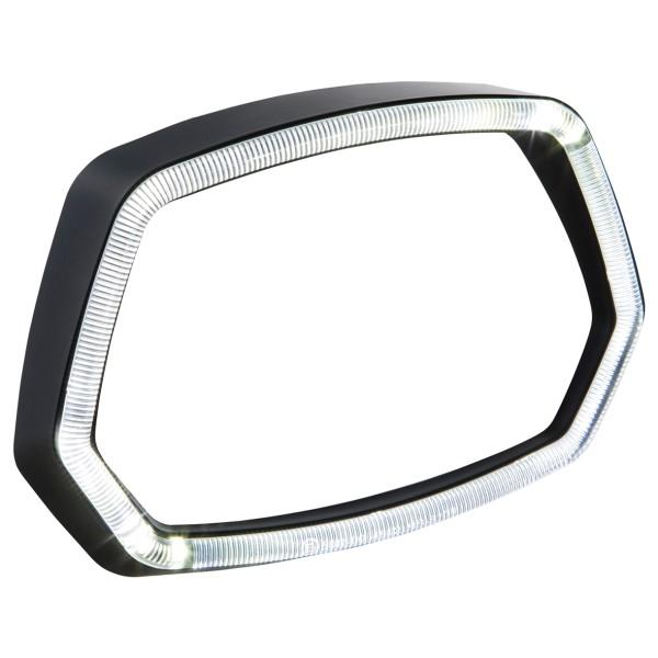 Anneau de lampe Anneau lumineux LED noir mat pour Vespa Sprint 125 / 150ccm 4T ('13 -'18)