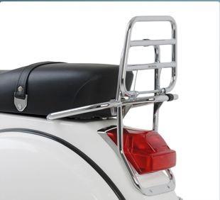 Original Porte-bagage arrière rabattable chromé Vespa PX