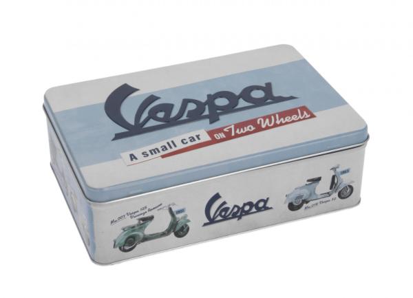 Vespa boîte de conservation, fer-blanc
