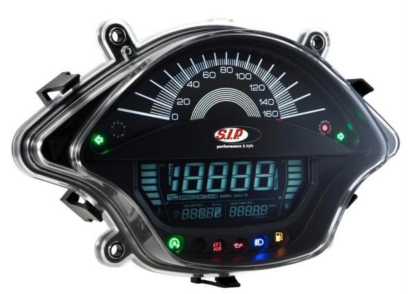Compte-tours/Compteur de vitesse pour Vespa GTS/GTS Super 300ccm FL ('14-), noir