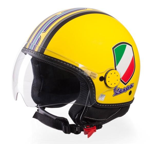 Casque Demi Jet Vespa V-Stripes jaune