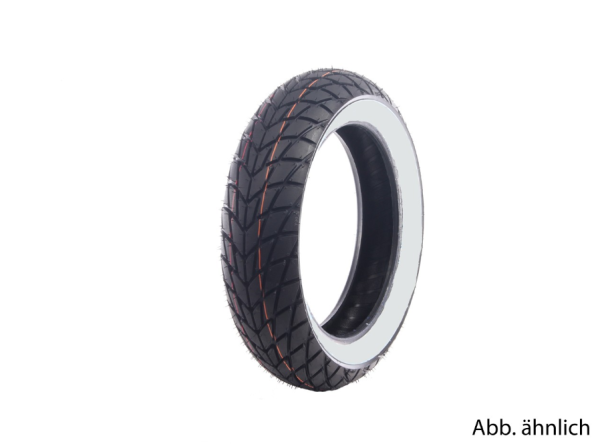 Pneu Mitas 130/70-12, 62P, TL, pneu à flanc blanc, MC20, M+S, avant/arrière