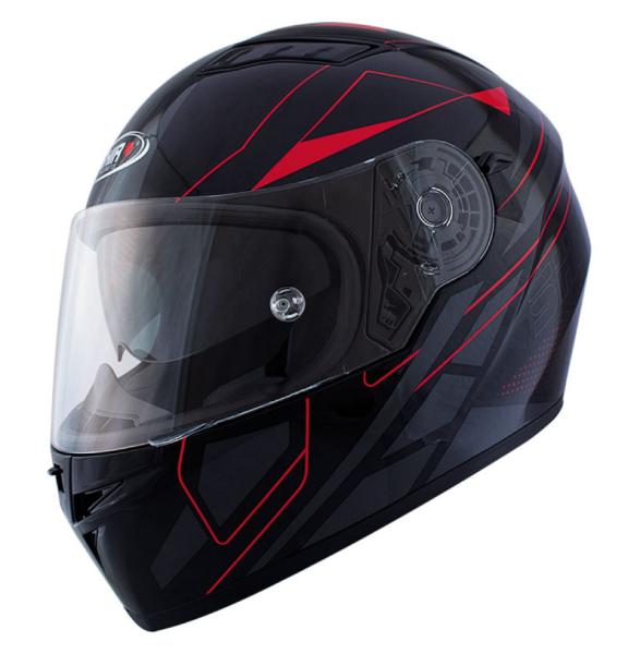Shiro Casque Integral, SH600, Elite, noir mat/rouge