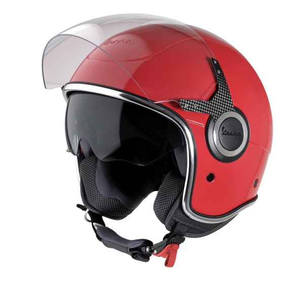 Casque Demi Jet Vespa VJ rouge Dragon 894