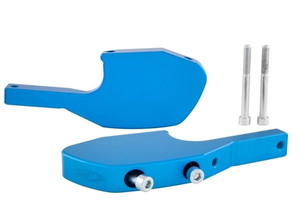 Adaptateur repose pieds passager pour Vespa GTS/GTS Super/GTV/GT 60/GT/GT L 125-300ccm, bleu mate
