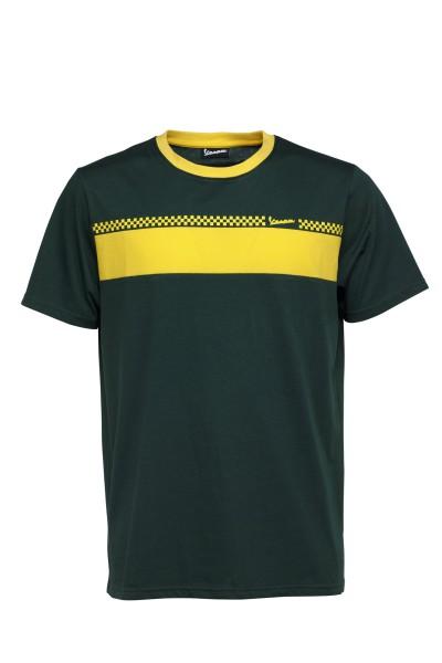 Vespa T-Shirt Racing Sixties 60s vert / jaune