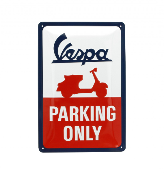 Vespa plaque métallique Vespa parking only