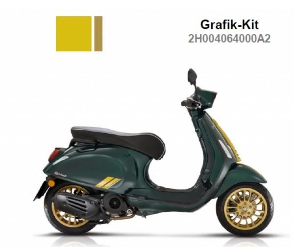 Kit de décoration, pour top case, jaune, Racing Sixties, Vespa Sprint