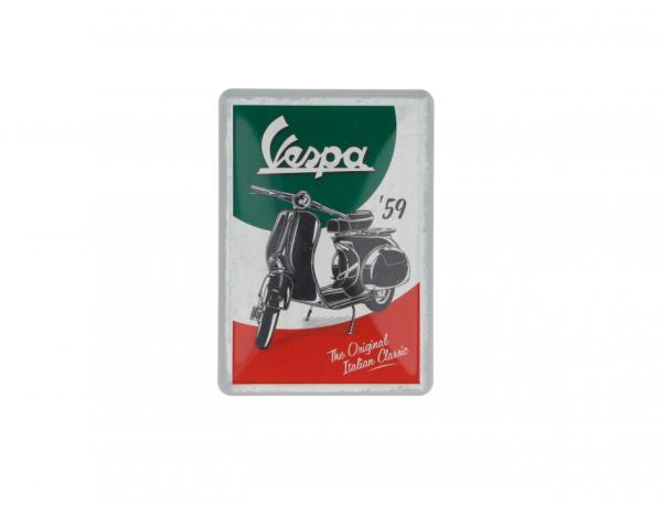 Vespa carte postale en fer-blanc The Italian Classic