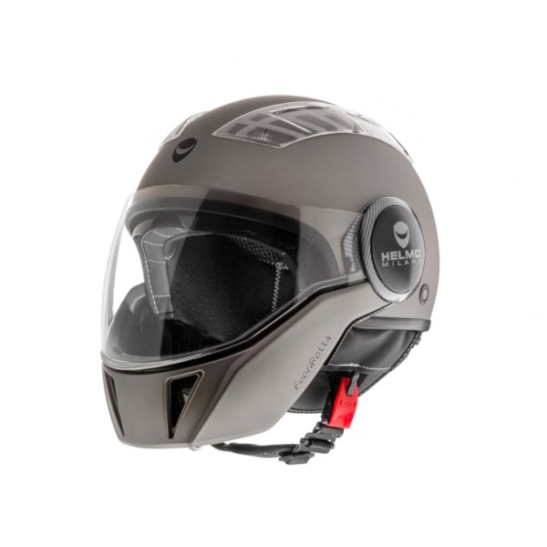 Casque intégral ouvert Helmo Milano, FuoriRotta, anthracite, mat