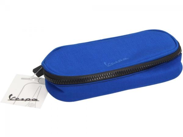 Vespa porte-crayons bleu