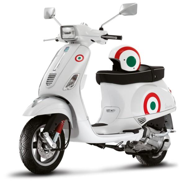 """Kit d'autocollant """"drapeau"""" Vespa S - Italie"""