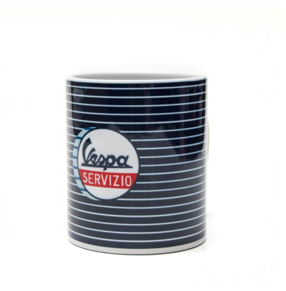 Vespa tasse Servizio bleu blanc