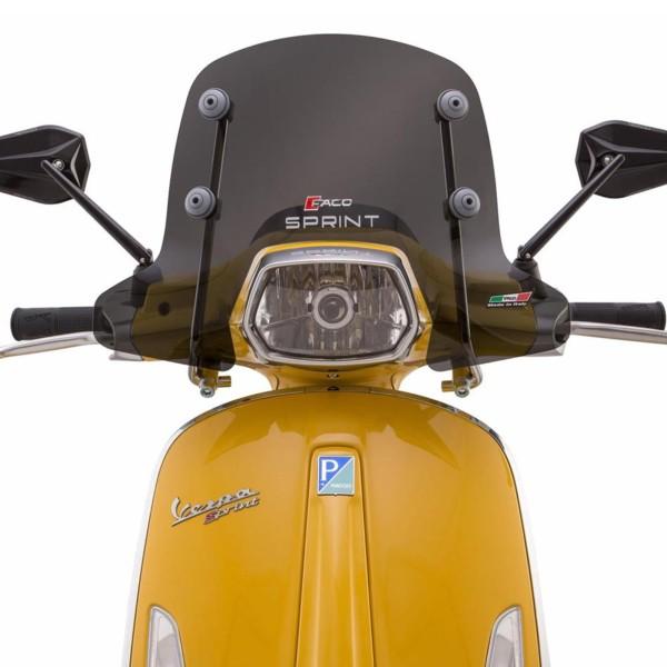 Pare-brise Faco demi-hauteur pour Vespa Sprint - teinté