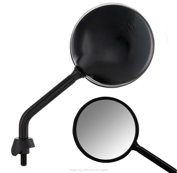 Rétroviseur Shorty pour Vespa, noir brillant, droit et gauche
