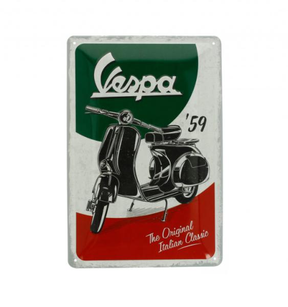 Vespa plaque métallique Vespa Italian Classic