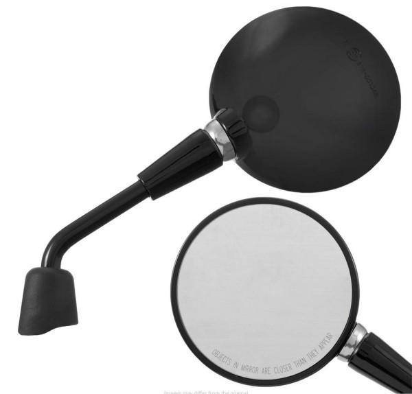 Rétroviseur Shorty, noir brillant, droit et gauche pour Vespa Primavera 50-150ccm 2T/4T / GTS HPE 50-300ccm