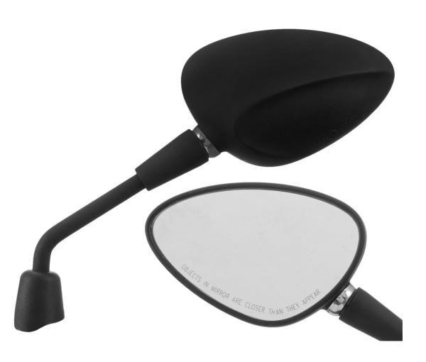 Miroir Shorty noir mat droit et gauche pour Vespa Sprint 50-150ccm 2T / 4T