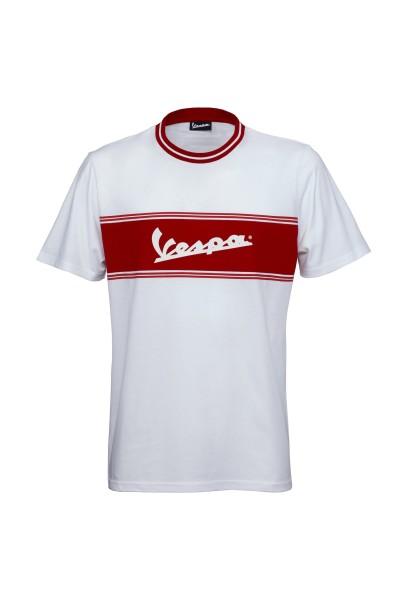 Vespa T-Shirt Racing Sixties 60s blanc / rouge