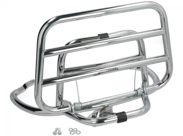Porte bagages arrière rabattable Vespa Primavera / Sprint / Elettrica - chrome